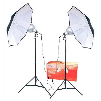 RPS Studio 2 Light Umbrella Kit with 2-8 inch Focusing Reflectors - Black (RS-4082)