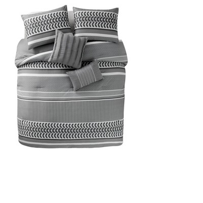 Gray Marcus Comforter Set (Full/Queen)- VCNY®