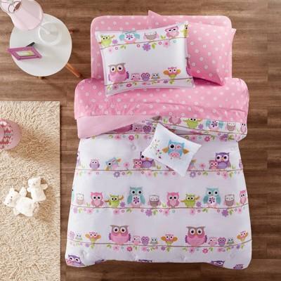 Striking Sara Microfiber Bedding Set (Twin) Pink