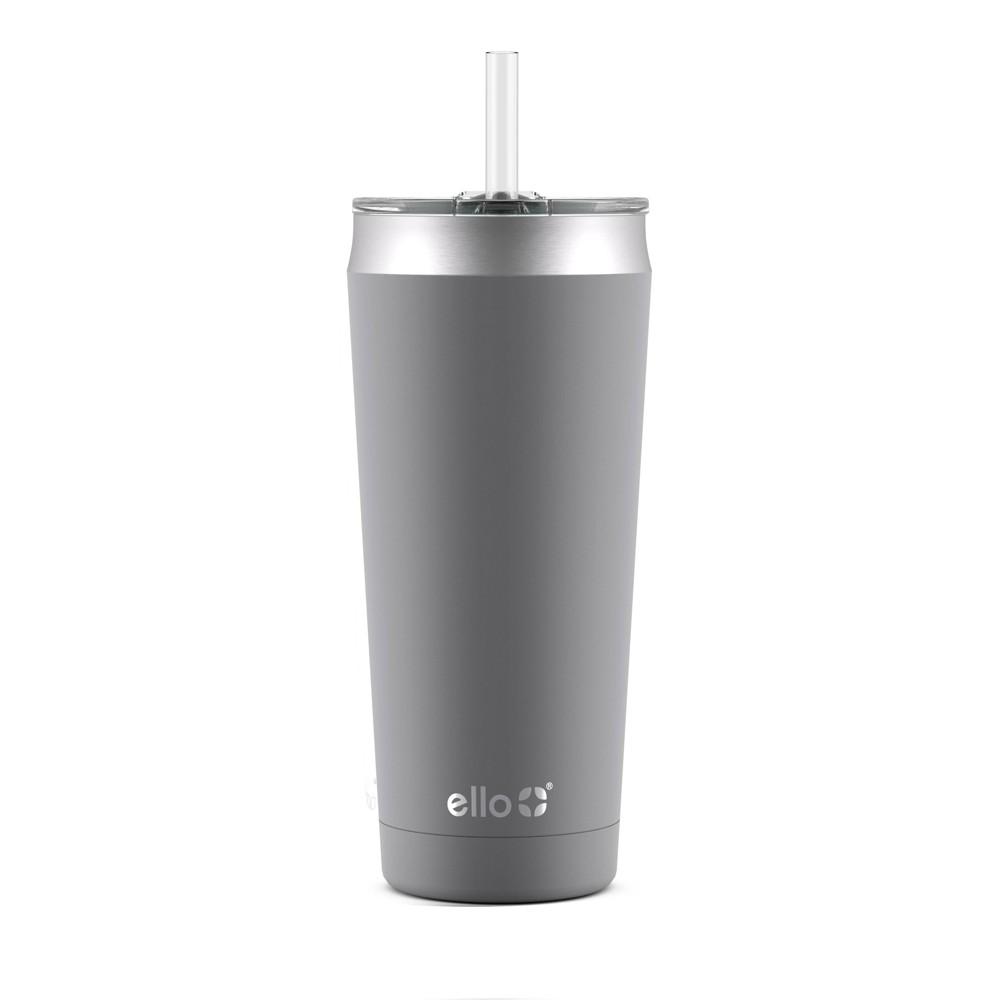 Ello Beacon 24oz Vacuum Stainless Steel Tumbler - Gray