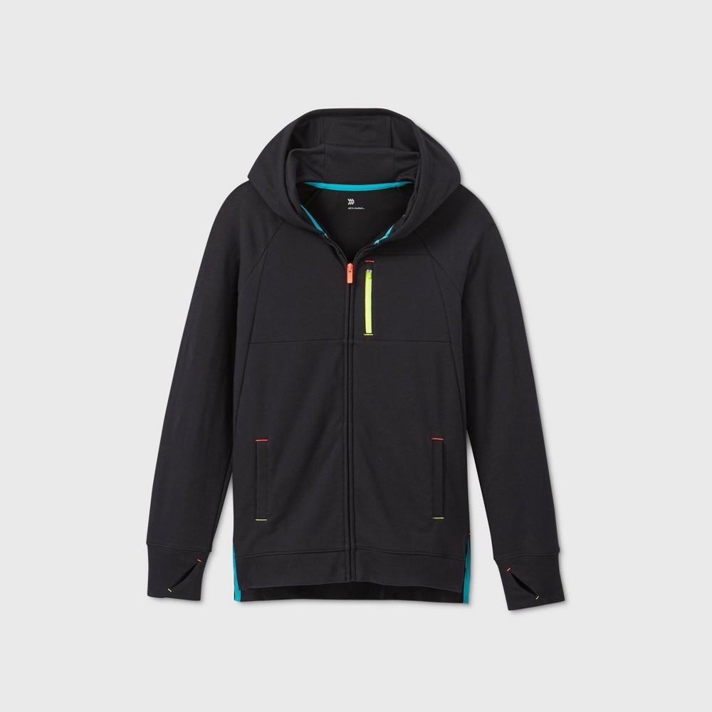 Boys 39 Fleece Full Zip Hoodie Sweatshirt All In Motion 8482 Black M