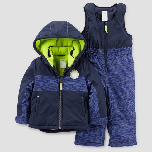 Toddler Boys' Snowsuit with Bib - Just One You® made by carter's Blue - image 1 of 1