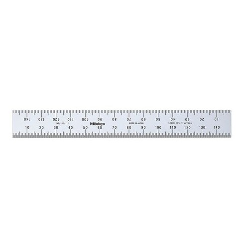 MITUTOYO 182-111 Rigid Rule,SS,150 x 19mm,1mm,0.5mm - image 1 of 1