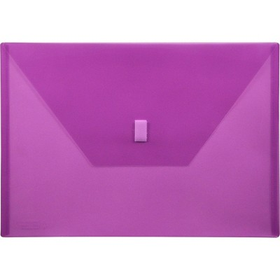 "Lion Office Products Poly Envelope Side Opening Hook/Loop 13""x9-3/8"" Purple 22080PR"