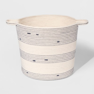 Large Coiled Rope Basket - Cloud Island™ Blue Overalls