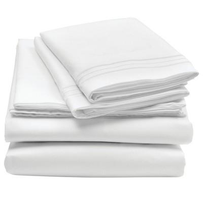 mDesign Microfiber Sheet Set - Wrinkle Resistant - White