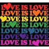 Love is Love Juniors Graphic T-Shirt - Design By Humans - image 2 of 3