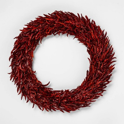 20  Dried Chili Pepper Wreath Red - Smith & Hawken™