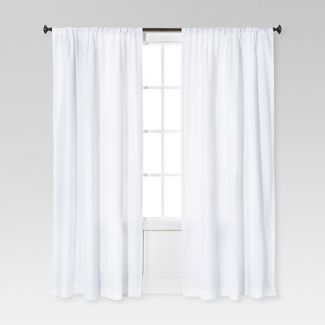 "95""x54"" Farrah Curtain Panel White - Threshold™"