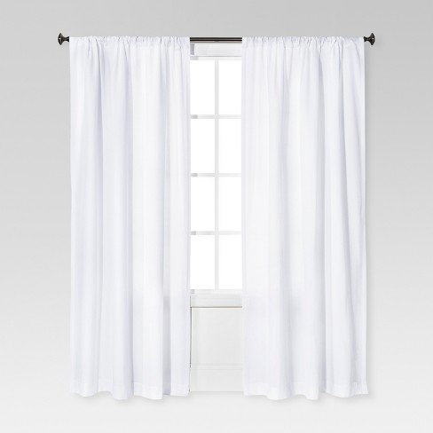 "Farrah Curtain Panel White (54""x95"") - Threshold™ - image 1 of 2"