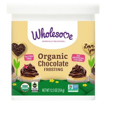 Wholesome Organic Gluten Free Chocolate Frosting - 12.5oz - image 1 of 3