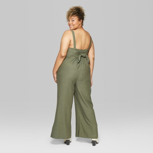 5e7ad37c09 Women s Plus Size Strappy Button Front Tie Back Jumpsuit. Shop all Wild  Fable™