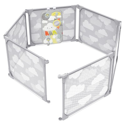 Skip Hop Play Enclosure Expandable Baby Playpen - Gray