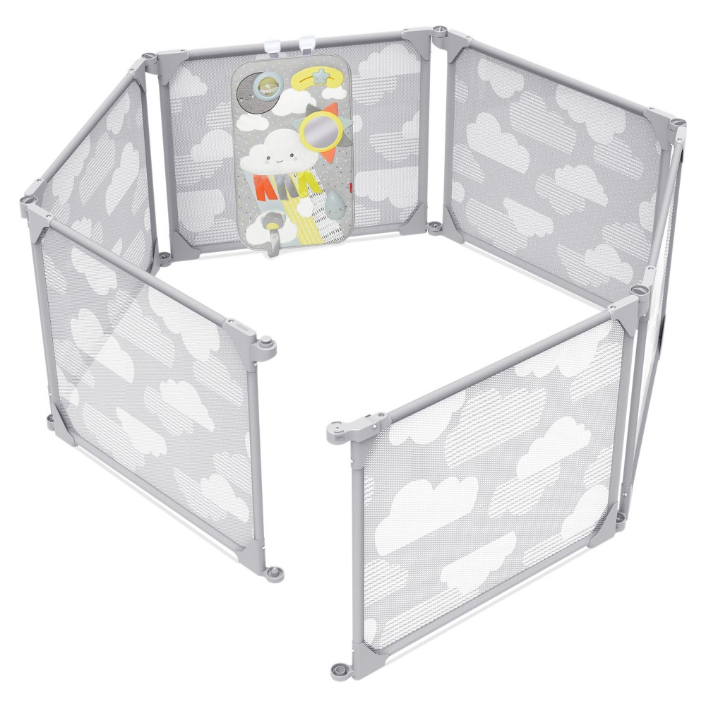 Image of Skip Hop Play Enclosure Expandable Baby Playpen - Gray