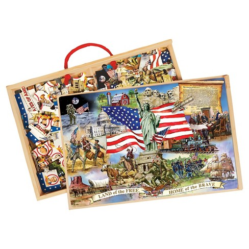 T.S. Shure Wooden Puzzle Set American Presidents 48pc - image 1 of 2