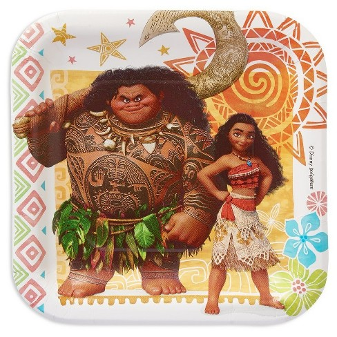 Moana Square Disposable Plates - 8ct - image 1 of 2