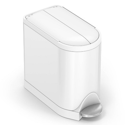 simplehuman 10L Butterfly Steel Step Trash Can