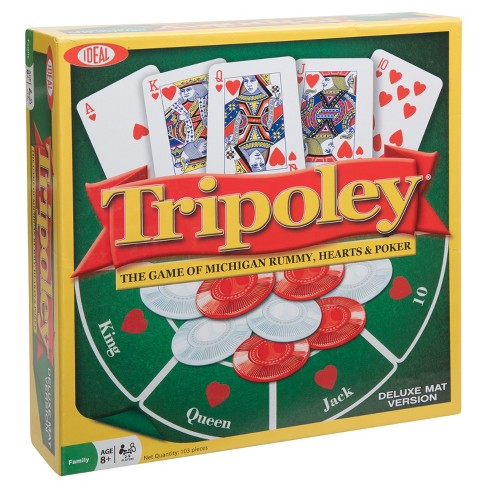 Ideal Tripoley Deluxe Mat Edition Card Game - image 1 of 6