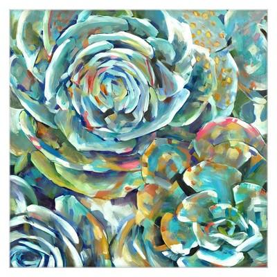 35 x35  Desert Bloom Soft By Frank Parson Art On Canvas - Fine Art Canvas