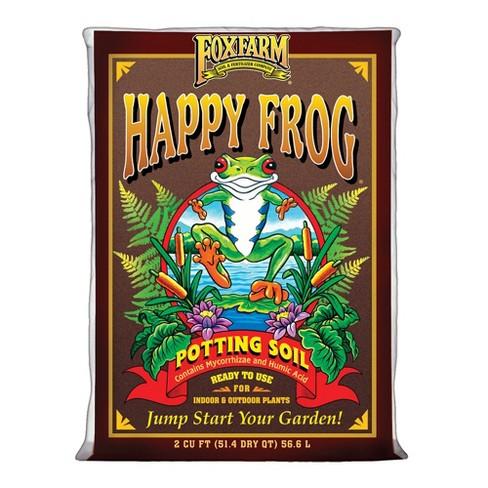 Foxfarm FX14047 Happy Frog Ph Adjusted Garden Potting Soil Mix, 2 Cubic Feet - image 1 of 4