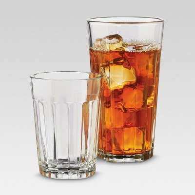 12pc Glass Old-School Assorted Tumblers - Threshold™