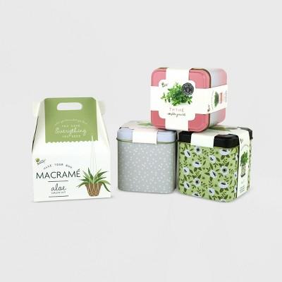 Buzzy Seeds 4ct Grow Kit Bundle with Macrame Kits