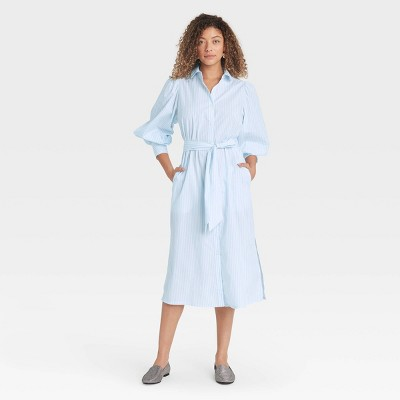 Women's Long Sleeve High Cuff Shirtdress - A New Day™
