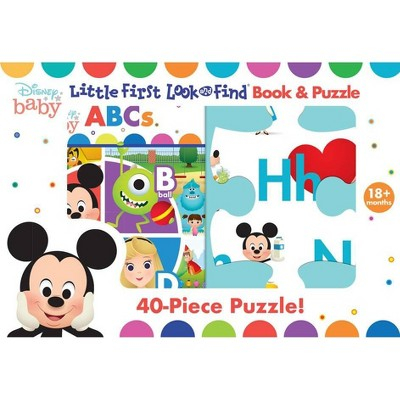 Disney Baby: ABCs - (Look and Find)by Pi Kids (Board Book)