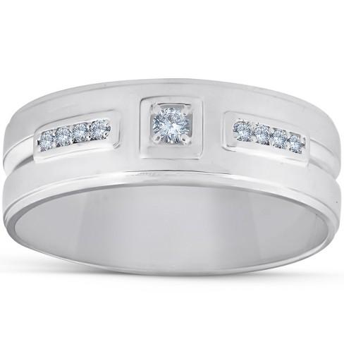 Pompeii3 1/4 Ct Diamond Mens Wedding Band High Polished 7mm Ring - image 1 of 3