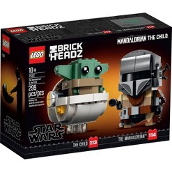 LEGO BrickHeadz Star Wars The Mandalorian & The Child 75317 Building Kit 295pc