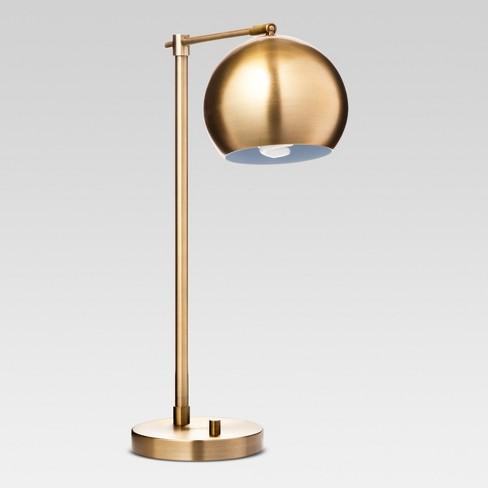 Modern Globe Desk Lamp Brass Includes Energy Efficient Light Bulb - Project 62™ - image 1 of 3