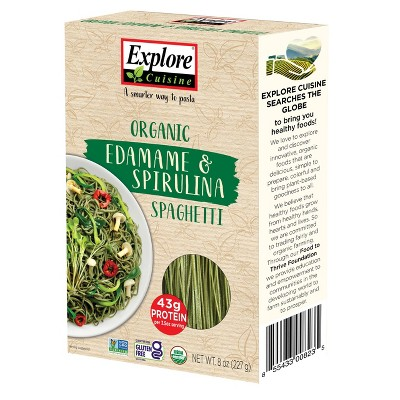 Explore Cusisine Organic Gluten Free Edamame Spirulina Spaghetti - 8oz