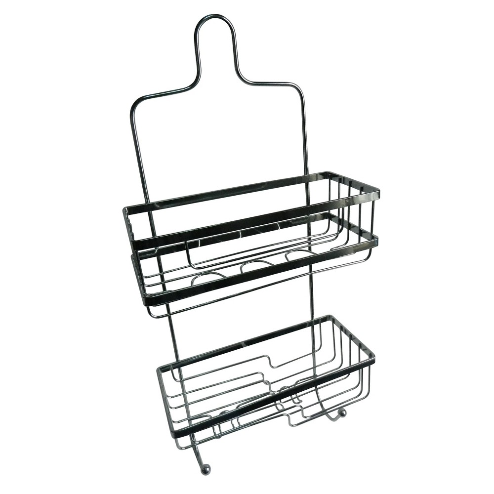 Image of 2 Level Squared Shower Caddy Light Silver 22 - Elegant Home Fashions