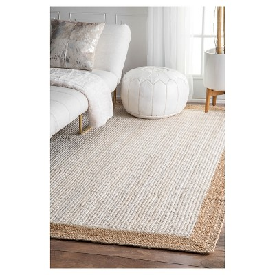 White Solid Loomed Area Rug - (5'x8') - nuLOOM, Size: 5' x 8'