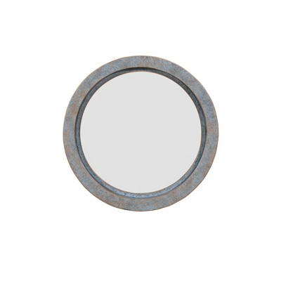 "16"" Round Modern Industrial Floating Wall Mirror Copper - Danya B."