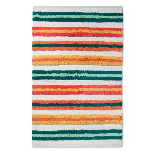 Woven Cotton Stripe Rug 48 X30 Pillowfort