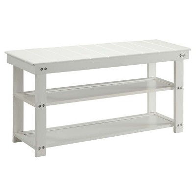 Oxford Utility Mudroom Bench - White - Convenience Concepts