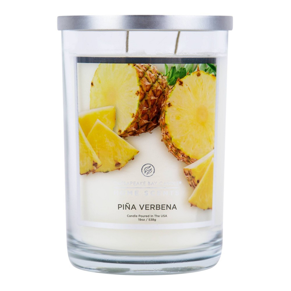 Image of 19oz Glass Jar 2-Wick Candle Piña Verbena - Home Scents by Chesapeake Bay Candle