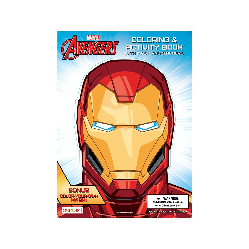 Image of Marvel Avengers Iron Man Coloring & Activity Book - Bendon