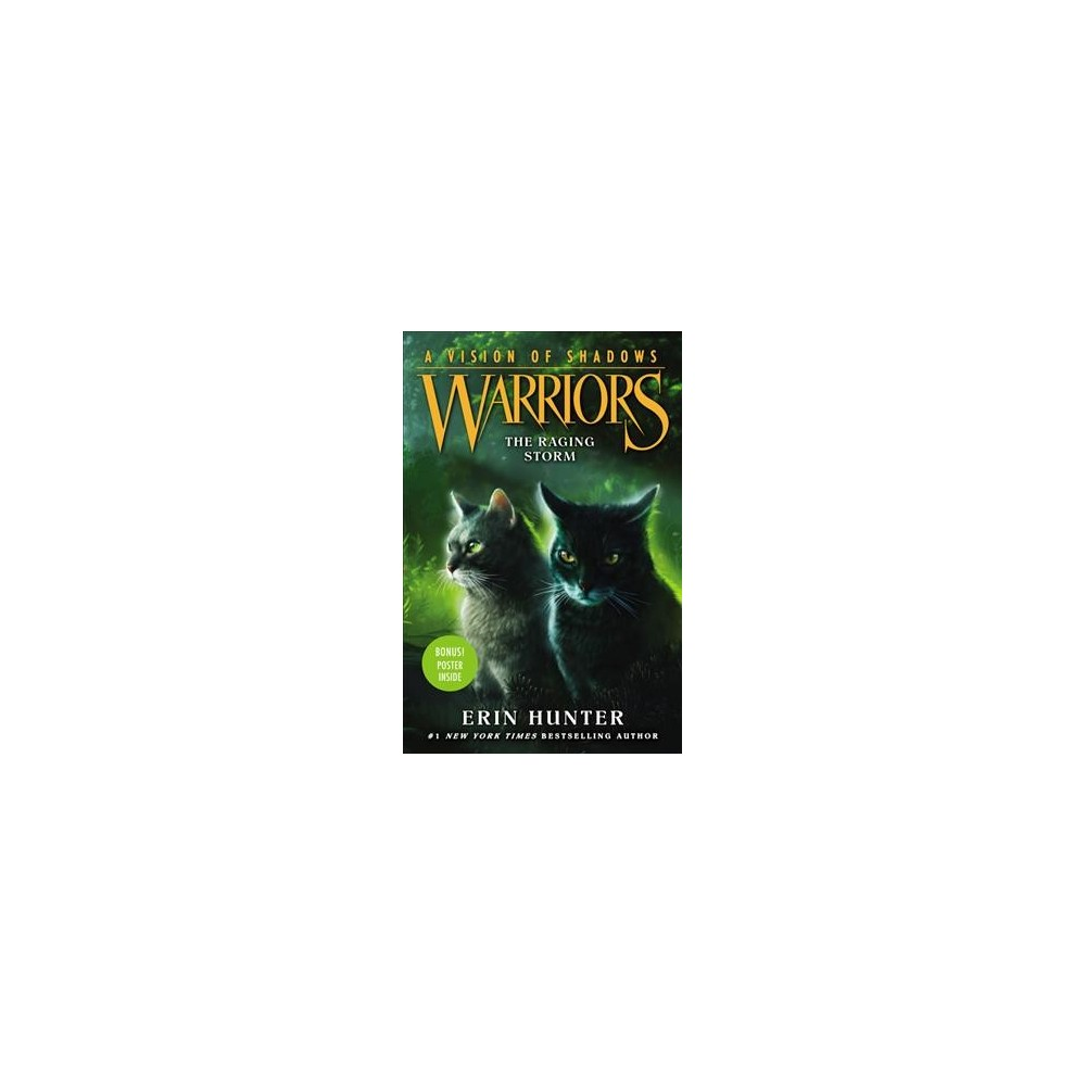 Raging Storm - (Warriors) by Erin Hunter (Hardcover)