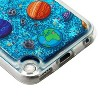 Valor Quicksand Glitter Earth Art Hard Plastic/Soft TPU Rubber Case Cover For Apple iPod Touch 5th Gen/6th Gen, Blue - image 3 of 4
