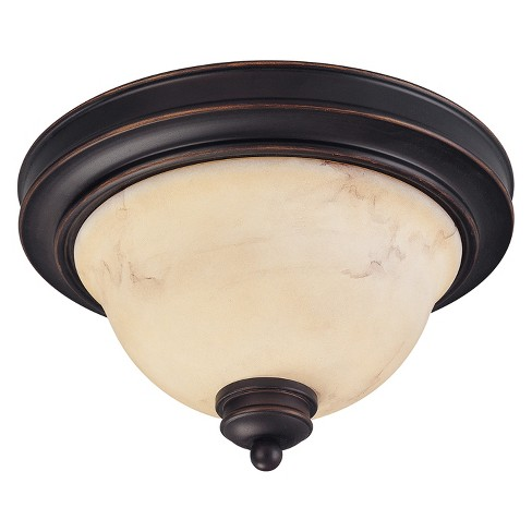 Aurora Lighting 2 Light Flush Mount Ceiling Lights Copper Espresso - image 1 of 1
