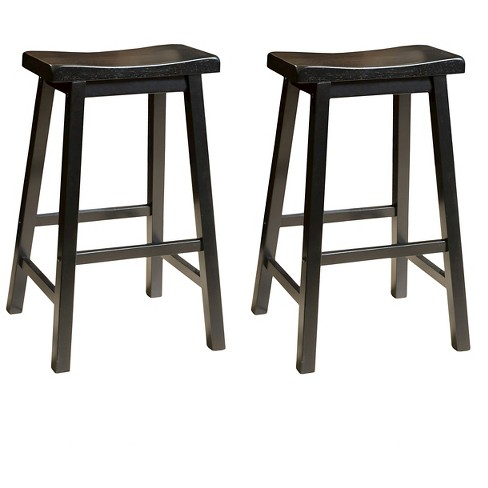 Set of 2 Pomeroy Saddle Barstool - Christopher Knight Home - image 1 of 4