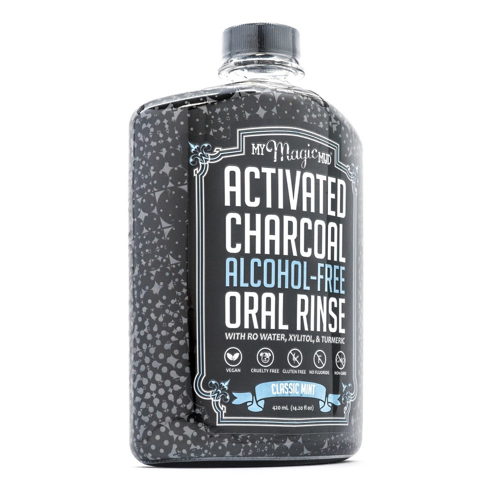 My Magic Mud Activated Charcoal Oral Rinse Classic Mint (Green) - 420ml