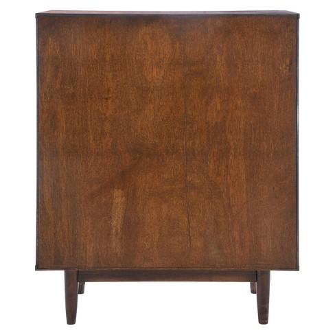 Mid Century Modern 4 Drawer 43 High Dresser Walnutwhite Zm