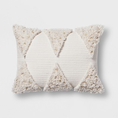 Cream Fringe Lumbar Pillow - Opalhouse™