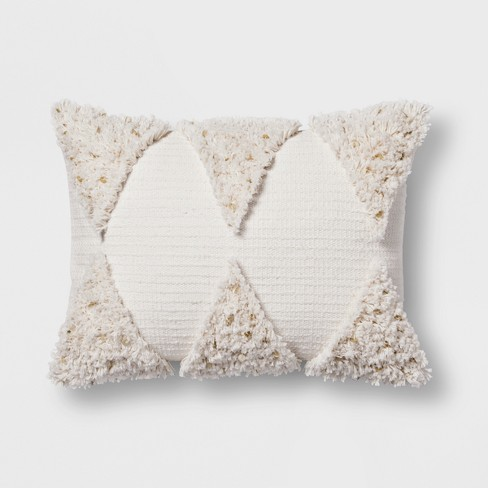 Cream Fringe Lumbar Pillow Opalhouse
