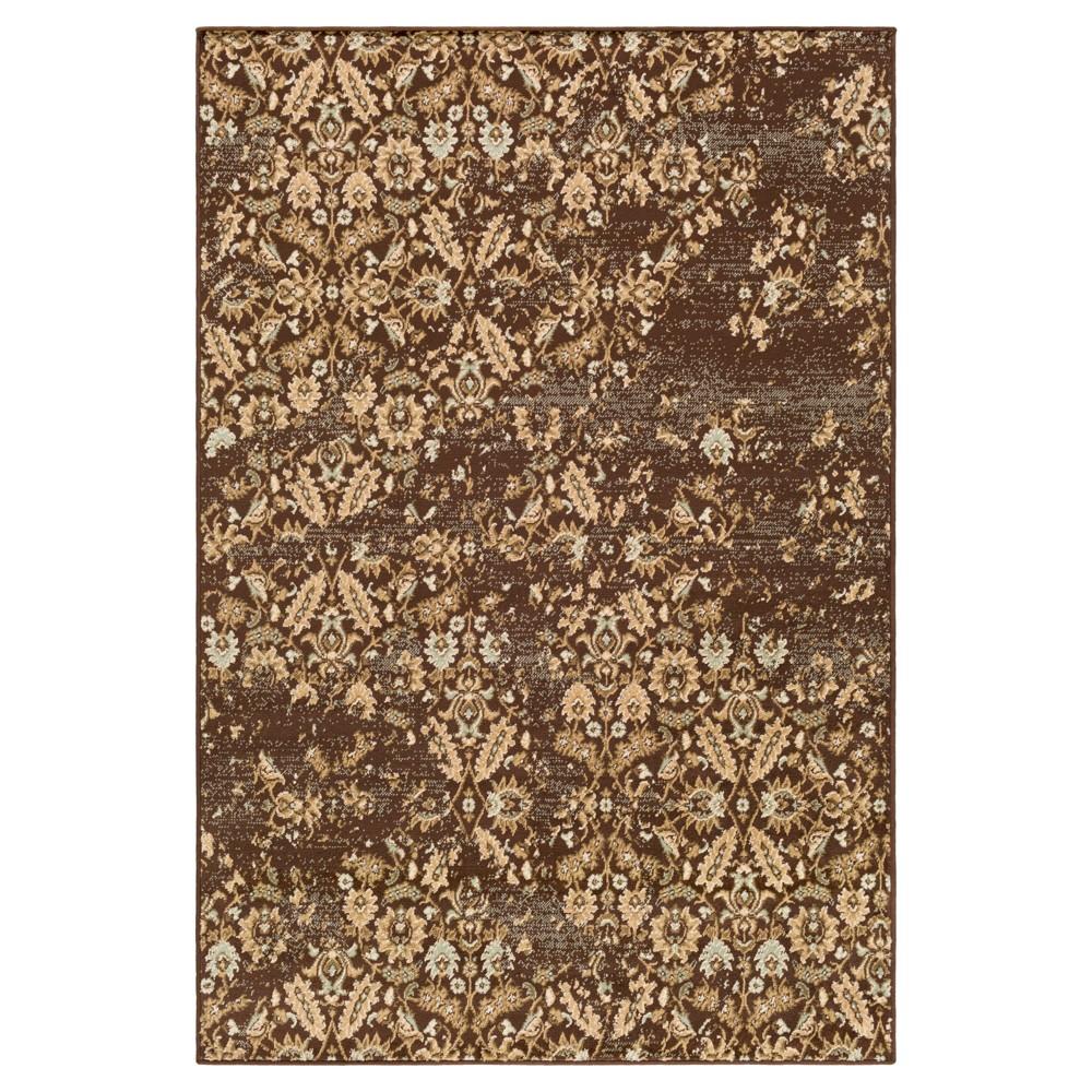 Brown Sugar Abstract Tufted Area Rug - (8'X11'2) - Surya, Dark Brown