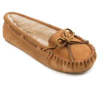 Minnetonka Women's Suede Cally Slipper