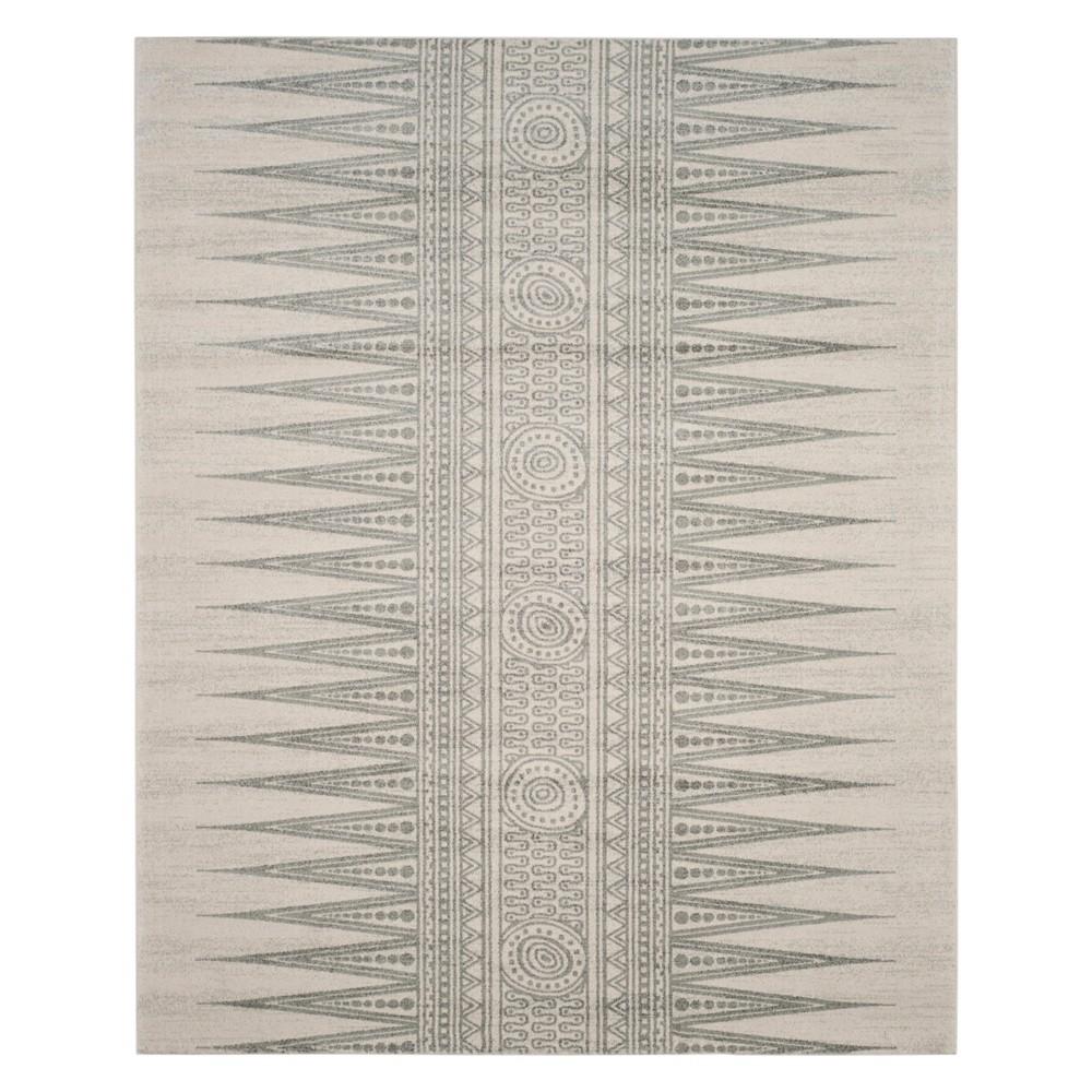 9'X12' Tribal Design Loomed Area Rug Ivory/Silver - Safavieh